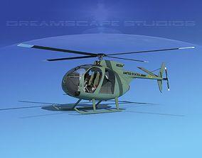 Hughes OH-6 Cayuse V04 3D