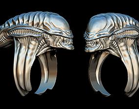 Alien ring 3D print model space