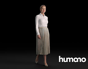 Humano Casual Woman Standing and walking 0403 3D