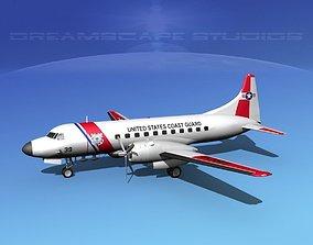 Convair C-131 US Coast Guard 3D model
