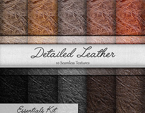 3D model Detailed Leather Seamless Textures Set