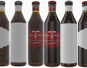 Beer Bottle with Beer and Condensation v07 3D
