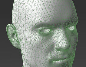 3D printable model Solid male head 3