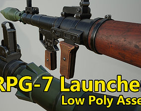 RPG-7 Launcher - low poly game assets low-poly