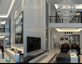 white house interior design 3D model