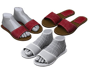 3D leather slippers 2