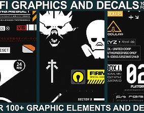 future Sci-fi Graphics and Decals - Vol2 3D model