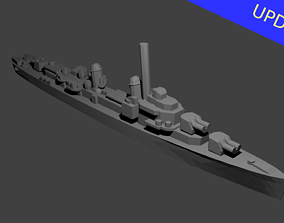 3D print model US Gearing Class Destroyer Warship