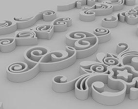 Ornate Swirls - Printable set of 11