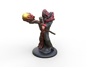 Arcane Wizard 3d Printable miniature attack