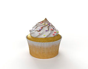 3D model Cupcake with marshmallows
