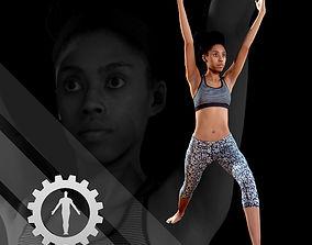 Female Scan - Sabrina Yoga Animation 3D model