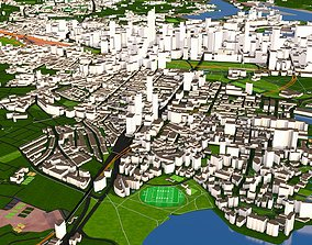 low-poly Sydney 3d City Australia October 2020 GIS data