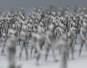 3D asset 25 Lowpoly Human Characters Bundle