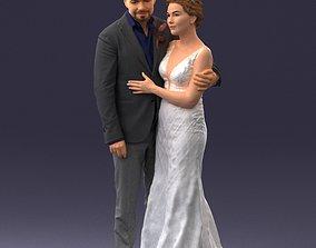 Wedding couple 1026 Print Ready 3D printable model