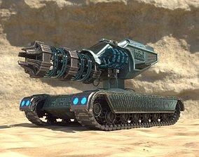 3D model Future weapon - Plasma gun