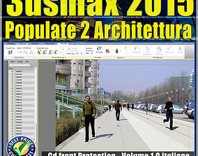 3ds max 2015 Populate 2 Architettura vol animated