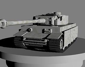 3D print model tank tiger