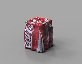 Coke Bottle Shrinkwrap 3D asset
