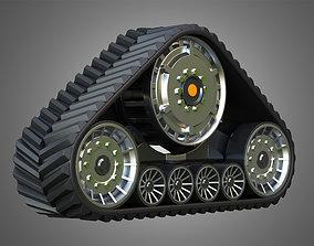 3D model Rubber Track System 2 - Combine Harvester - 1