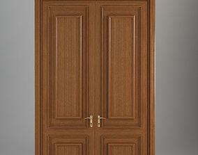 Wooden Door oak 3D model