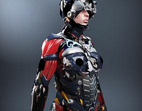 Sci-fi Female Character V2 3D model
