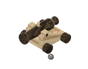 Wood Cannon Toy 3D print model