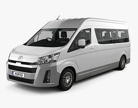 3D Toyota Hiace Passenger Van L2H2 GL with HQ interior RHD