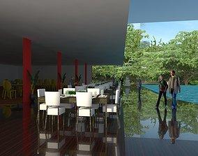 3D model Poolside Restaurant