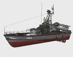 Komar-class missile boat Project 183R 3D model