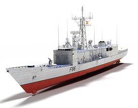3D model F-86 Canarias Sta Maria class frigate