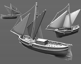 17th century sailing ship 3D printable model