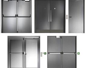 Metal swing fire doors 3D