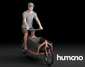 3D Humano Biking Woman 0709