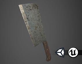 Apocalyptic Meat Cleaver - PBR and Game Ready 3D asset