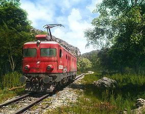 Realstic Electric locomotive 3D model