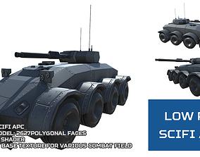 3D model Low Poly Scifi APC 2