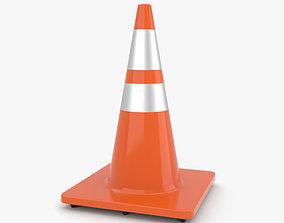 Traffic Cone 3D construction