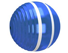 3D Croquet Ball blue