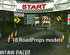 3D asset low-poly Mountain Racer