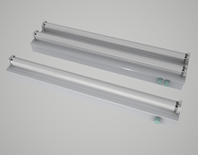 Fluorescent Lights Collection 3D