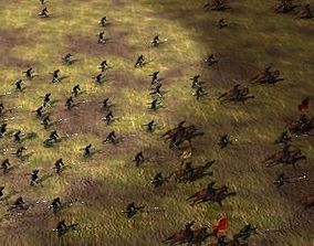 Massive Army Crowd of Medieval Warriors 3D model