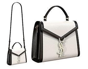 3D asset YSL Saint Laurent Cassandra Mini Top Bag Black 1