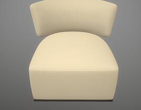 3D model Amoenus soft Antonio Citterio Foster Ivory