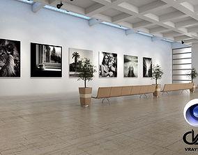 3D Museum Sowroom C4D Vray