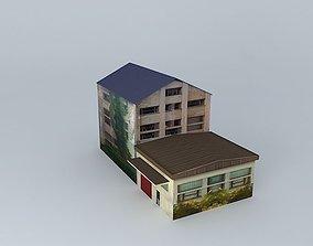 3D model Derelict Factory Sisak