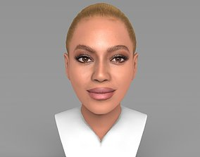 Beyonce Knowles bust ready for full color 3D