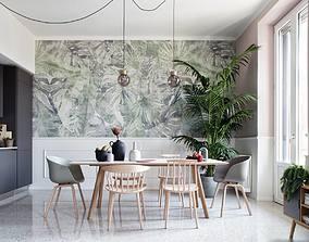 Scandinavian Style Kitchen Room - S79 3D animated