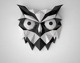 3D print model low poly owl
