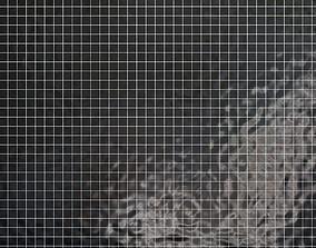 Tiles set Geometry Pattern Black - Square 3D model